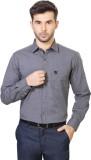 People Men's Solid Formal Grey Shirt