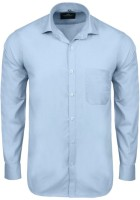 Swiss Connection Formal Shirts (Men's) - Swiss Connection Men's Solid Formal Light Blue Shirt