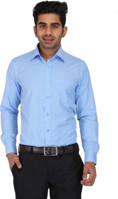 Prague Fashion Men's Solid Formal Light Blue Shirt