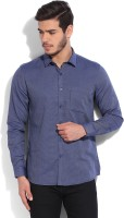 John Miller Formal Shirts (Men's) - John Miller Men's Self Design Formal Blue Shirt