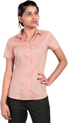 Eighteen27 Women's Polka Print Casual Pink Shirt