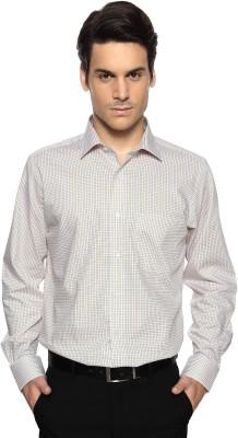 Van Heusen Men's Checkered Formal White Shirt