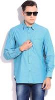 Indigo Nation Street Formal Shirts (Men's) - Indigo Nation Street Men's Solid Formal Blue Shirt