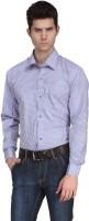 Ausy Formal Shirts (Men's) - Ausy Men's Checkered Formal Blue Shirt