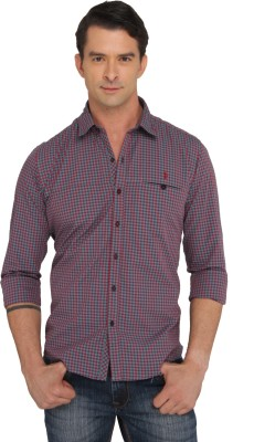 Donear NXG Men's Checkered Casual Red Shirt