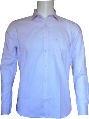 Ardeur Men's Self Design Formal White, Purple Shirt