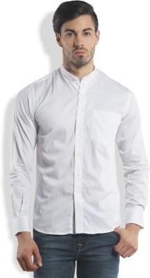 I-Voc Men,s Solid Casual White Shirt