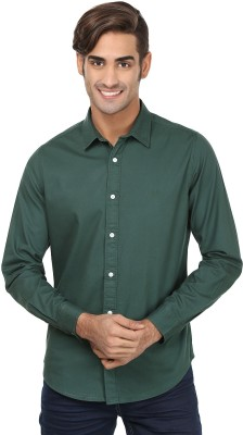 United Colors of Benetton Men's Solid Casual Green Shirt