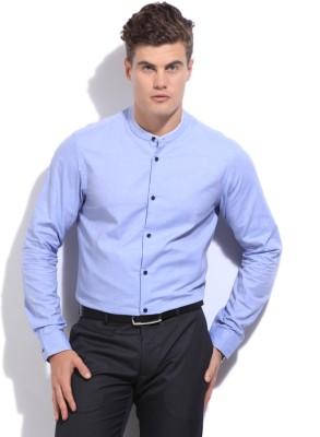 Arrow Newyork Men's Solid Casual Blue Shirt