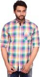 RKF Men's Checkered Casual Multicolor Sh...