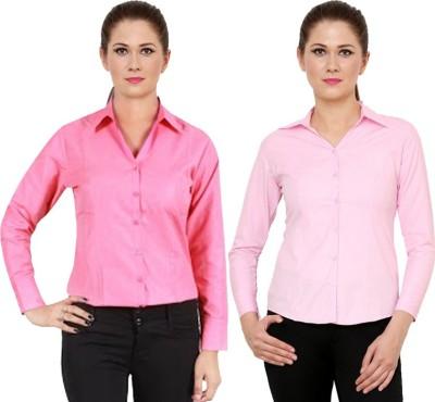 NGT Women's Solid Formal Maroon Shirt