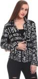 Saiints Women's Printed Casual Black Shi...