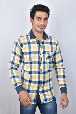 Hometrade India Men's Checkered Casual Multicolor Shirt