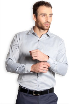 SOLEMIO Men's Solid Formal, Casual Grey Shirt