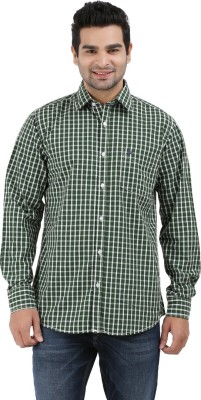 Haberfield Men's Checkered Casual Green Shirt