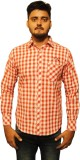 The GreeK Men's Checkered Casual Red, Wh...