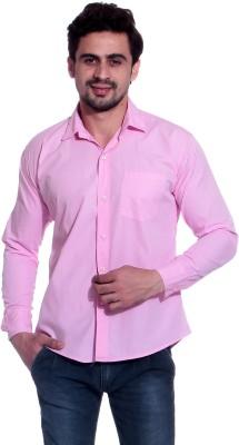 Calibro Men's Solid Casual Pink Shirt