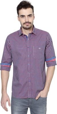 Van Heusen Men's Checkered Casual Maroon Shirt