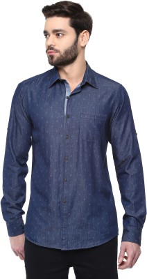 Cairon Men's Woven Casual Blue Shirt