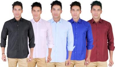 Yuva Men's Solid Casual Multicolor Shirt