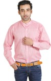 Adventure Men's Solid Formal Pink Shirt
