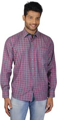V Seven Men's Printed Casual Pink Shirt