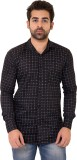 Lime Time Men's Printed Casual Black Shi...