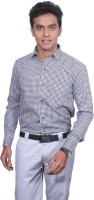 Pioneer Calicos Formal Shirts (Men's) - Pioneer Calicos Men's Checkered Formal White, Black Shirt