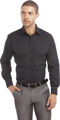 Leo Men's Checkered Formal Blue Shirt