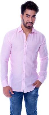 Choice4U Men's Solid Casual Reversible Pink Shirt
