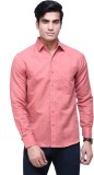 The GreeK Men's Solid Casual Pink Shirt