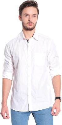 RPB Men's Solid Casual White Shirt