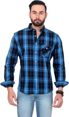 Urban Republic Men's Checkered Casual Blue, Black Shirt