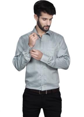 Yorkshire Men's Printed Formal Grey Shirt