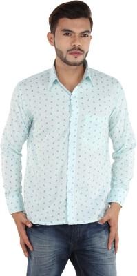 FDS Men,s Self Design Casual Light Green Shirt