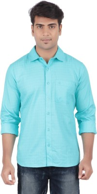 Anytime Men's Checkered Casual Blue Shirt