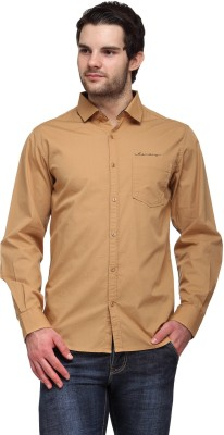 Canary London Men's Solid Casual Beige Shirt