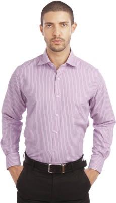 Leo Men's Checkered Formal Red Shirt