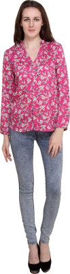 Annies Fab Women's Floral Print Casual Multicolor Shirt