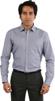 Desar Rana Men's Checkered Formal Blue Shirt