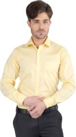 J Hampstead Formal Shirts (Men's) - J Hampstead Men's Solid Formal Yellow Shirt