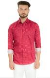 Club X Men's Printed Casual Red Shirt