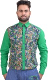 Home Shop Gift Men's Printed Casual Gree...