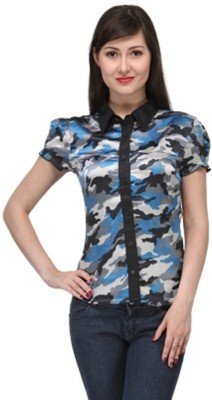 M&F Women's Printed Casual Multicolor Shirt