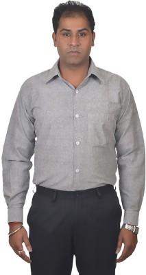 Gagan Enterprises Men's Solid Formal Grey Shirt