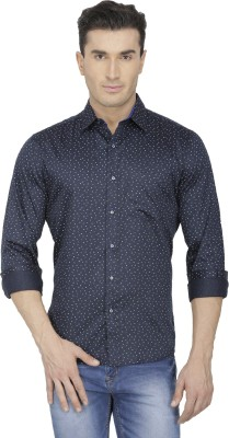 Spaky Men's Printed Casual Dark Blue Shirt