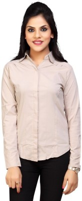 Carrel Women's Solid Formal White Shirt