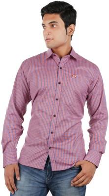 Relish Men's Checkered Formal Red, Blue Shirt