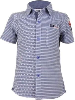 Biker Boys Boy's Printed Casual Blue Shirt