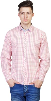 Seaboard Men's Checkered Casual Red, White Shirt
